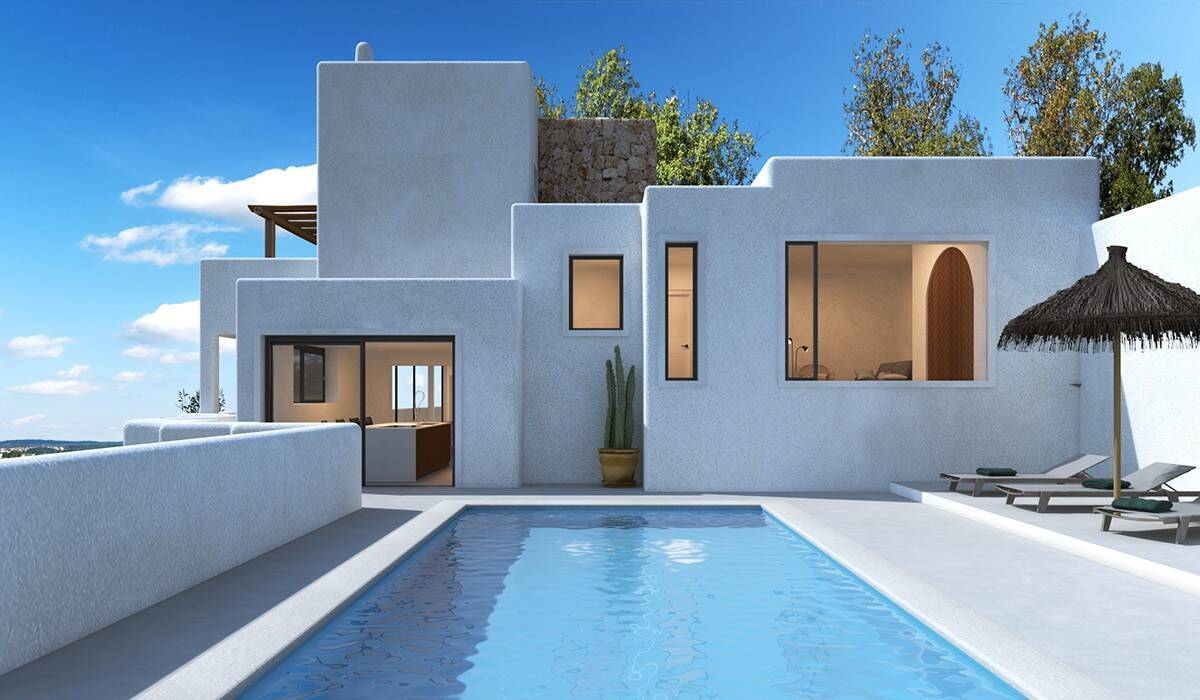 Luxury modern new constructed design villas by immo abroad for Designhotel ibiza